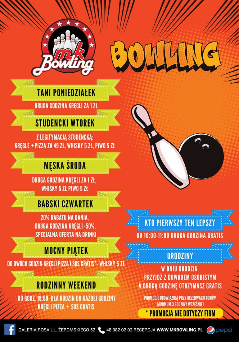 Bowling - promocje