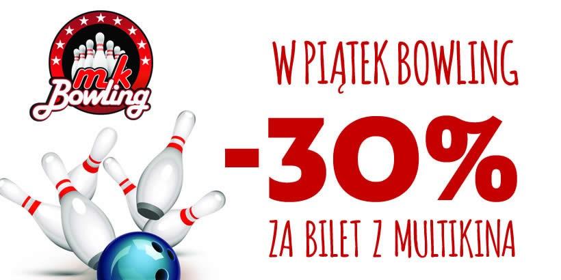 -30% na bowling z biletem do Multikina